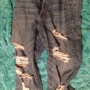 Abercrombie & Fitch Jeans - Abercrombie High Rise Ankle Straight Jeans